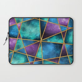 Space Abstract Geometric Laptop Sleeve