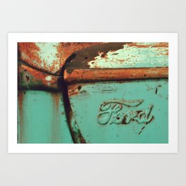 ford green Art Print