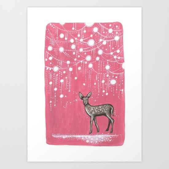 Rain Deer Art Print