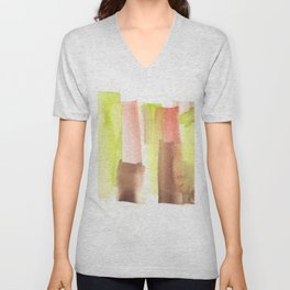 [161228] 23. Abstract Watercolour Color Study|Watercolor Brush Stroke Unisex V-Neck