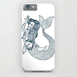 VINTAGE MERMAID ART Mermaid Gift For Women iPhone Case