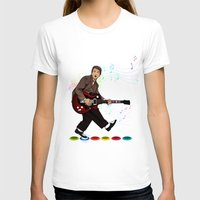 marty mcfly T-shirts featuring Marty McFly plays Guitar Hero by Akyanyme