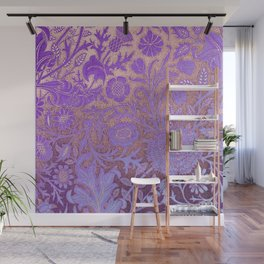 Wiiliam Morris revamped, art nouveau pattern Wall Mural