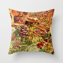 Food Collage 1 Throw Pillow