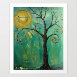 WHIMSY TREE OF LIFE Art Print
