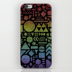Modern Elements with Spectrum. iPhone Skin