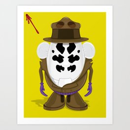 Mr Potato R. Art Print