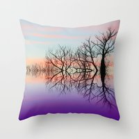 skyline Throw Pillows featuring Skyline by Shalisa Photography