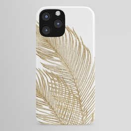 Palm Leaves Finesse Line Art with Gold Foil #2 #minimal #decor #art #society6 iPhone Case