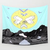 gravity Wall Tapestries featuring GRAVITY SPACE by MAR AMADOR