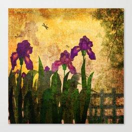 Vintage. Evening garden . Canvas Print
