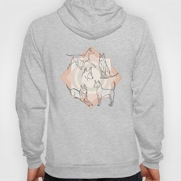 Thai Ridgeback Pattern in Light Terracotta Hoody