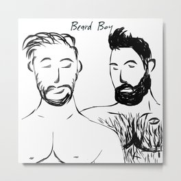 Beard Boys 1 Metal Print