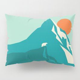 As the sun rises over the peak Pillow Sham