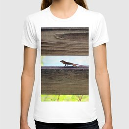 Watercolor People in Nature, AaP, Construction 07, and Lizard, St John, USVI T-shirt