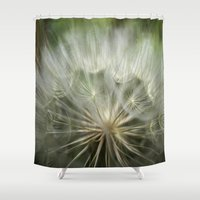 bokeh Shower Curtains featuring Bokeh by T.M.