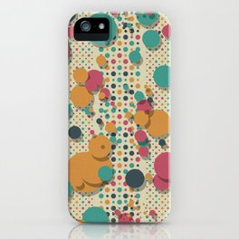 """Retro Confetti Polka Dots"" iPhone Case"
