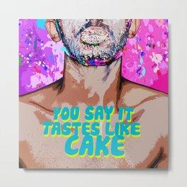 You say it tastes like CAKE....Miley Cyrus Milky Milk Metal Print