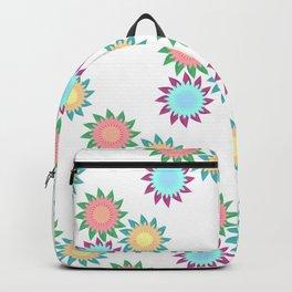Watercolor Stroke Flower Pattern Backpack