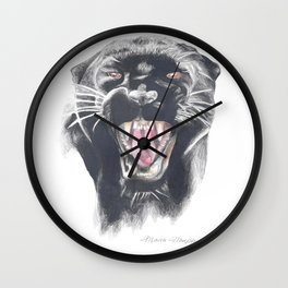 Roaring Panther Wall Clock