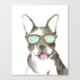 french bulldog watercolor art Canvas Print