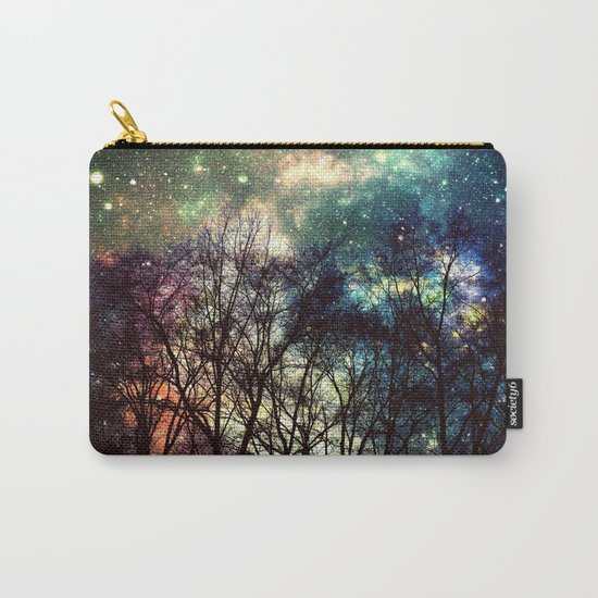 Black Trees Deeply Colorful Space Carry-All Pouch