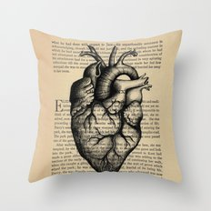Pride & Prejudice, Chapter XXXV: Anatomical Heart Throw Pillow