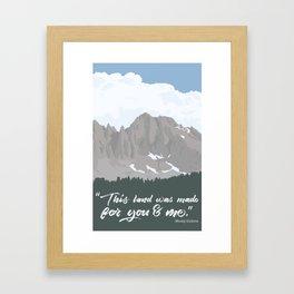 Our Land High Sierra Illustration Framed Art Print