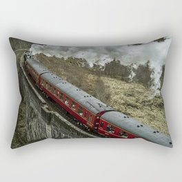 Red Wizard Steam Train In The Scottish Highlands – Landscape Photography Rectangular Pillow