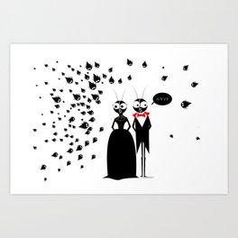 Mr.&Mrs. Black Art Print