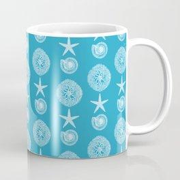Sea Blue Seashell Pattern Coffee Mug