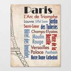 Travel - Paris Canvas Print