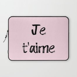 Je t'aime Pink Laptop Sleeve
