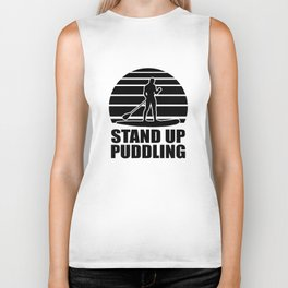 Stand Up Puddling Biker Tank