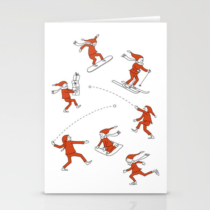 Christmas Elves Stationery Cards