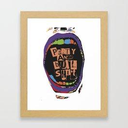 B.I.G. Mouth Framed Art Print