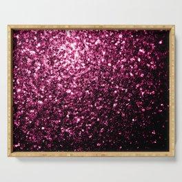Beautiful Dark Pink glitter sparkles Serving Tray
