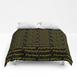 Elvish // Gold & Black Comforters