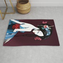 Geisha la blanche Rug