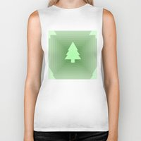 christmas tree Biker Tanks featuring Christmas Tree by Mr and Mrs Quirynen
