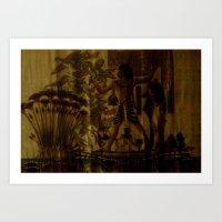 papyrus egyptian painting Art Print
