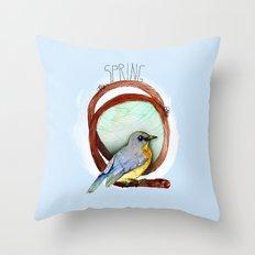Spring birdy / Nr. 2 Throw Pillow