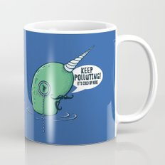 Evil Narwhal Favors Global Warming Mug