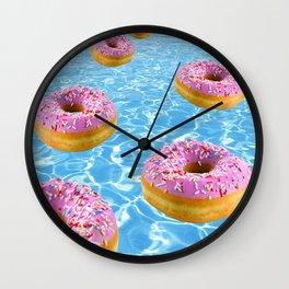 Donut Float Wall Clock