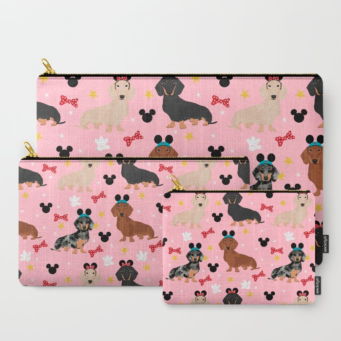 Dachshund_theme_park_lover_dog_breed_wiener_dog_gifts_CarryAll_Pouch_by_Dear_Doxie__Set_of_3