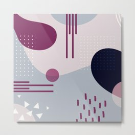 purple geometry abstract Metal Print