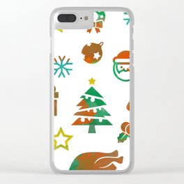 Christmas Theme Clear iPhone Case