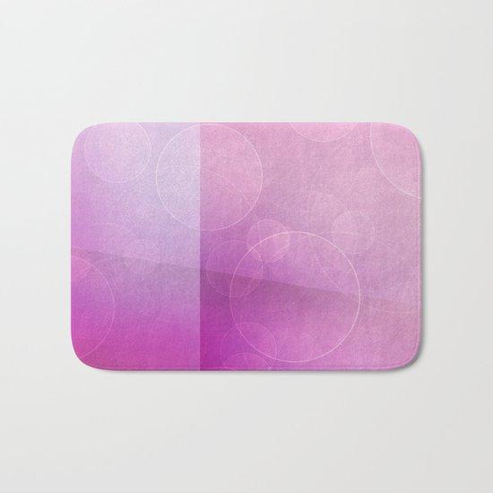 pink abstract circles background Bath Mat
