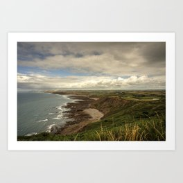 North Cornish Landscape  Art Print