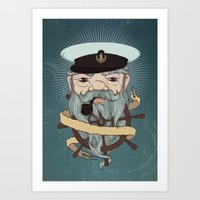 Sea wolf Art Print